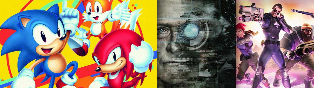 og:image:, Sonic Mania , Observer , Rime , No Man's Sky (Update) , Agents of Mayhem , Hellblade: Senua's Sacrifice,