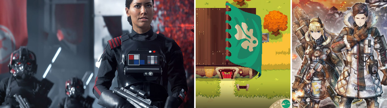 og:image:, Feedback from our last episode , Star Wars Battlefront 2 , Moonlighter , Call of Cthulu: Dark Corners of the Earth , Into the Breach , Valkyria Chronicles 4 Announced for 2018,