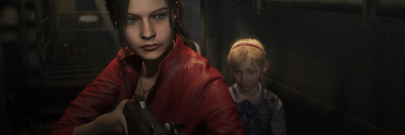 Screenshot - Claire Redfield and Sherry Birkin from Resident Evil 2 Remake