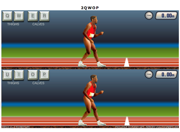 Two player qwop released 4playernetwork previously i mentioned that a special 2 player version of qwop was going to be at an event in austin and recently bennett foddy released it to people at ccuart Images